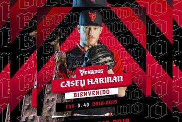Casey harman se une a mitch lively como refuerzo de venados de Mazatlán
