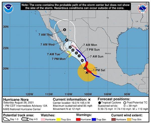 Coepriss pide extremar precauciones y prepararse ante Huracán Nora 2021 1