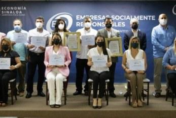 Entregan en Sinaloa reconocimientos a Empresas Socialmente Responsables