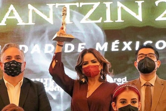 "Recibe Gabriela Peña Chico Premio Internacional ""Tonantizin 2021"""