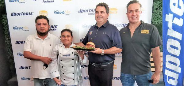 Dportenis, La Hamburguería y Los Huevos Días y Noches lanzan hamburguesa con causa 2021 1