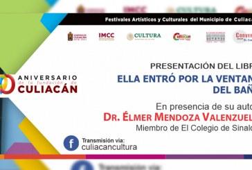 Élmer Mendoza participará en los festejos de la Fundación de Culiacán