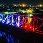 Quirino Ordaz Coppel inaugura el alumbrado del Puente Negro de Culiacán