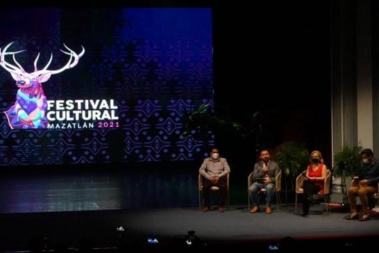 Presentan el Festival Cultural de Mazatlán 2021.
