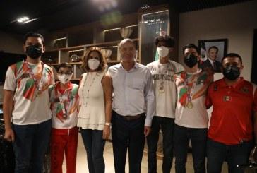Quirino recibió a los medallistas paralímpicos de Tokio y medallistas de Bélgica