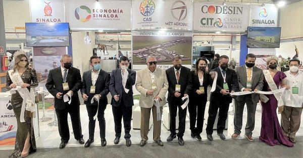 Sinaloa presente en la Feria Aeroespacial de México FAMEX 2021 Stand