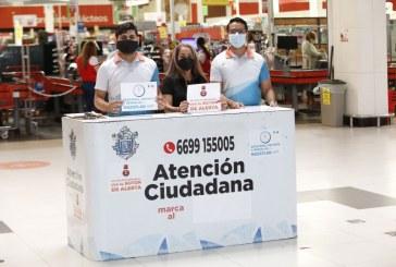 Atención Ciudadana instaló módulo de recepción de quejas y reportes en plaza Acaya