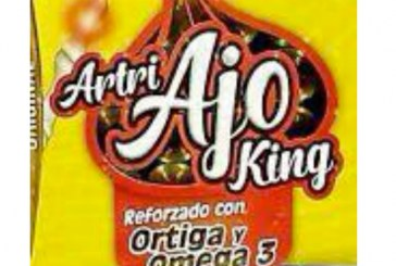 """Coepriss advierte que el producto """"Artri Ajo King"""" constituye un riesgo a la salud"""