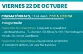22 y 23 de octubre llega la Muestra Audiovisual de Documental, Cortometrajes y Largometrajes.