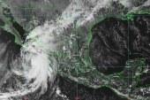 Pamela se encuentra esta tarde como tormenta tropical a 220 km al sur-sureste de Baja California Sur